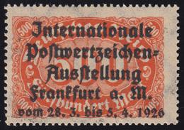 Privater Zudruck Intern. Postwertzeichen-Ausstellung Frankfurt 1926 Auf 251, ** - Briefmarkenausstellungen