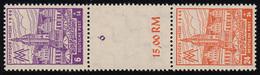 162+164 Messe-Zusammendruck S Zd 7 AX, Postfrisch **, Ungefaltet - Sowjetische Zone (SBZ)