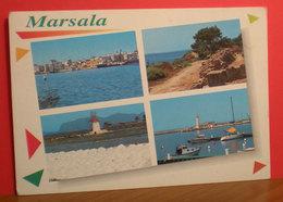 MARSALA Vedute Faro E Mulino Cartolina  Viaggiata - Marsala