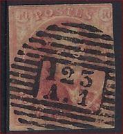 Medaillon 40 Cent Met Afstempeling 123 A1 Van VERVIERS ANNEXE En In Goede Staat (rechts Ingesneden (zie 2 Scans)) ! - 1849-1865 Medallions (Other)