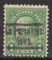 USA Precancel Vorausentwertung Preo, Locals Iowa, La Porte City 632-553 - Vereinigte Staaten
