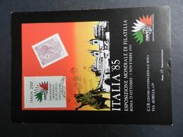 19943) ROMA ESPOSIZIONE MONDIALE FILATELIA ITALIA 1985 VIAGGIATA 1985 - Mostre, Esposizioni