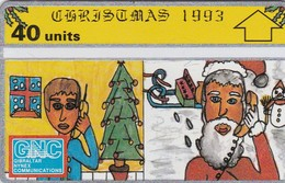 Gibraltar, GIB-34, Christmas 1993, Mint, 2 Scans. - Gibraltar