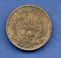 Tunisie  -  50 Centimes 1921      Km #  246 -  état  TTB - Tunisie