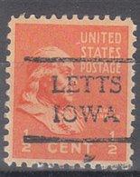 USA Precancel Vorausentwertung Preo, Locals Iowa, Letts 716 - Vereinigte Staaten