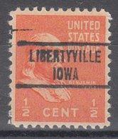 USA Precancel Vorausentwertung Preo, Locals Iowa, Libertyville 734 - Vereinigte Staaten