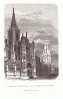 Vers 1880 - Gravure Sur Bois - Évreux (Eure) - La Cathédrale - FRANCO DE PORT - Estampes & Gravures