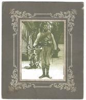 Vieille Photo - Soldat - Militaire Africain Avec Un Clairon - Oorlog, Militair