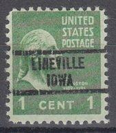 USA Precancel Vorausentwertung Preo, Locals Iowa, Lineville 734 - Vereinigte Staaten