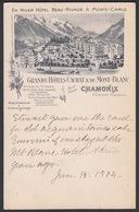 CPA 74 - CHAMONIX, Grands Hotels Cachat & Du Mont Blanc - Chamonix-Mont-Blanc