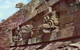 El Templo De Quetzalcoati San Juan Teotihuacan Mexicp RV  Beau Timbre - Mexique