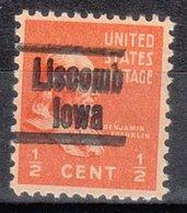 USA Precancel Vorausentwertung Preo, Locals Iowa, Liscomb L-1 HS - Vereinigte Staaten