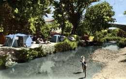 Cpsm Petit Format CAMPING L'ARC EN CIEL PONT DES TROIS SAUTETES 2 Km D'Aix En Provence Tentes Voiture 203 Colorisée RV - France