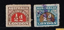 Lot Australie, Anciens Fiscaux (douane) à Identifier - Stamps