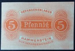 Billet 5 Pfennig LAGERGELD MONNAIE DE CAMP PRISONNIER DE GUERRE Kriegsgefangenenlager HAMMERSTEIN - [10] Emissions Militaires