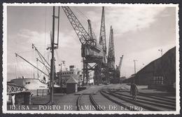 CPA Mozambique - BEIRA, Porto De Caminho De Ferro, Carte Photo, 1956 - Mozambique