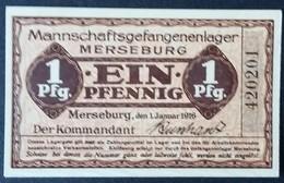 Billet 1 Pfennig LAGERGELD MONNAIE DE CAMP PRISONNIER DE GUERRE Kriegsgefangenenlager MERSEBURG - Altri