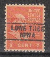 USA Precancel Vorausentwertung Preo, Locals Iowa, Lone Tree 745 - Vereinigte Staaten