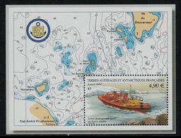 T.A.A.F. // 2004 //  Bloc-feuillet No.10 Y&T Neuf**  Levées Hydrographiques - Blocs-feuillets