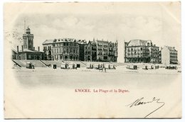 CPA - Carte Postale - Belgique - Knocke - La Plage Et La Digue - 1901  (B8949) - Knokke