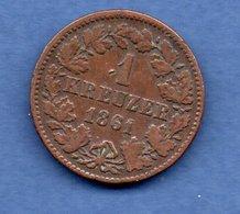 Nassau -  1 Kreuzer 1861     état  TB - Small Coins & Other Subdivisions
