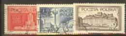 POLAND 1953 MICHEL 824-826 SET USED - Usati