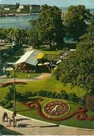 Geneve (Ginevra, Svizzera) L'Horloge Fleurie Et Le Jardin Anglais - GE Ginevra