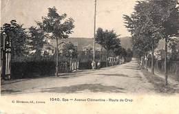 Spa - Avenue Clémentine - Route De Crep (animée, G. Hermans) - Spa