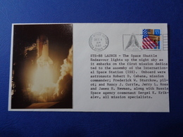 STATI UNITI USA 1998 MISSIONE SPAZIALE STS-88 SPACE SHUTTLE N. 2 BUSTE FILATELICHE - Storia Postale