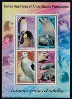 T.A.A.F. // 2002 //  Bloc-feuillet No.344-347 Y&T Neuf**  Faune Antarctique, Jeunes Et Adultes - Blocs-feuillets