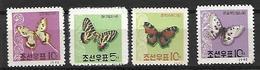 COR002 - 1962 COREA DEL NORD - FARFALLE - NUOVI - Corea Del Nord