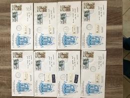TAAF Lettre Recommandé Et / Ou  Poste Aérienne - Lot 8 Lettres / Plis - Tierras Australes Y Antárticas Francesas (TAAF)