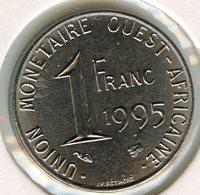Afrique De L'Ouest West African States Union Monétaire 1 Franc 1995 BCEAO UMOA KM 8 - Coins