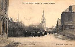 59 - Godewaersvelde - Route De Calcane (animée, Edit. Huyghe-Cardinael 1913) - France