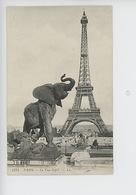Paris La Tour Eiffel - Elephant De Emmanuel Fremiet (cp Vierge N°1174) - Tour Eiffel