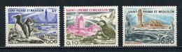 SPM MIQUELON  1975 N° 445/447 ** Neufs MNH Superbes C 14,20 € Oiseaux Birds Phare Lighthouse Faune Animaux - St.Pierre Et Miquelon
