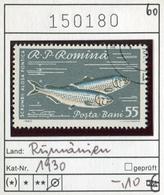 Rumänien - Roumanie - Romina - Rominia - Michel 1930 -  Oo Oblit. Used Gebruikt - Fische Fishes - 1948-.... Republiken