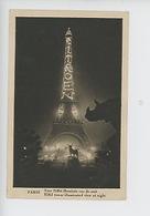 Paris La Tour Eiffel Illuminée : Publicité Citroën Rhinocéros Alfred Jacquemart éléphant Emmanuel Fremiet - Tour Eiffel