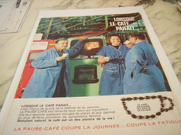 ANCIENNE PUBLICITE LA PAUSE  CAFE  1963 - Posters