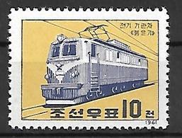 COR017 - 1961 COREA DEL NORD - ELETTRIFICAZIONE DELLE FERROVIE - NUOVI - Corea Del Nord