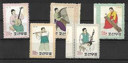 COR023 - 1962 COREA DEL NORD - STRUMENTI MUSICALI - NUOVI - Corea Del Nord