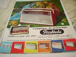 ANCIENNE PUBLICITE  CAMPAGNE DE PRINTEMPS TRANSISTORS RADIOLA  1963 - Plakate & Poster