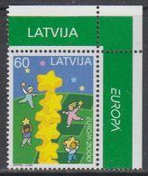 Europa Cept 2000 Latvia 1v (corner)  ** Mnh (43139B) - Europa-CEPT