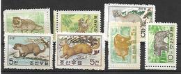 COR024 - 1962 COREA DEL NORD - ANIMALI - NUOVI - Corea Del Nord