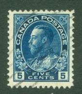 Canada: 1911/22   KGV    SG205b    5c   Deep Blue      Used - 1911-1935 Reinado De George V