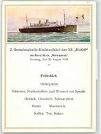 52795431 - Speisekarte 1934 Hamburg-Amerika Linie - Steamers