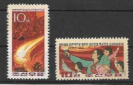 COR025 - 1962 COREA DEL NORD - GIORNATA DELLA MAMMA E ANNIVERSARIO BATTAGLIA DI BOCHUMBO - NUOVI - Corea Del Nord