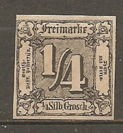 T Et T - Yv. N° 14 Mi. N°26 (*)  1/4s Noir Etats Du Nord Cote  25 Euro  BE    2 Scans - Thurn Und Taxis