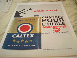 ANCIENNE   PUBLICITE CALTEX 5 STAR 1963 - Transports