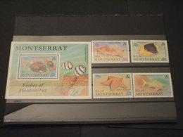 MONTSERRAT - 1990 PESCI 4 VALORI + BF - NUOVI(++) - Montserrat